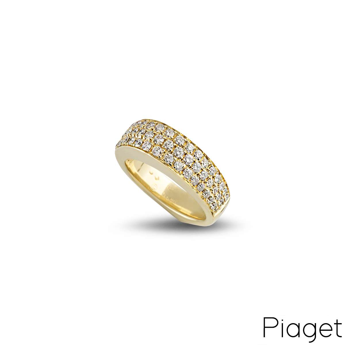 Piaget 18k Yellow Gold Diamond Set Dress Ring
